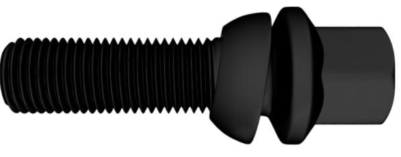 Auswahl Radschrauben mit beweglichem Kugelbund Schwarz & Silber