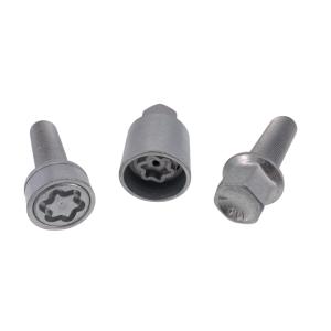 Levando Radschrauben 4x Felgenschloss + 2 Schlüssel M14x1,5x45 Kugel R14 silber