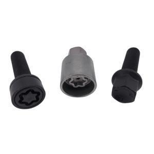 Levando Radschrauben 4x Felgenschloss + 2 Schlüssel M14x1,5x45 Kugel R14 schwarz