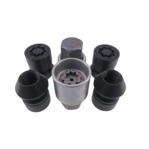 Levando Radmutter 4x Felgenschloss + 2 Schlüssel M12x1,5x33 Kegel 60° schwarz