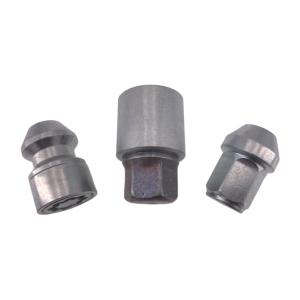 Levando 12x Radmutter 4x Felgenschloss + 2 Schlüssel M14x1,5x33 Kegel 60° silber