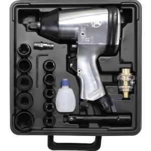 Kraftmann BGS Druckluft-Schlagschrauber mit Werkzeugsatz...